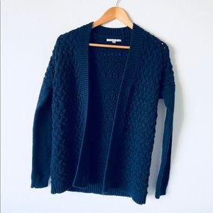 Gap navy blue chunky knit cardigan sz Xs